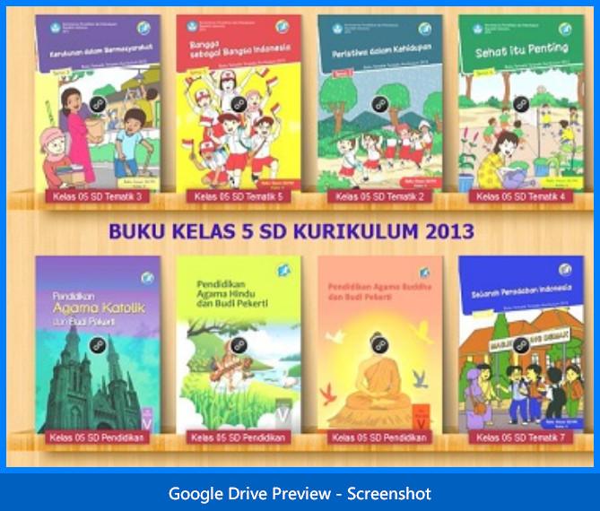 Koleksi Buku Guru Dan Siswa Sd Kelas 5 Kurikulum 2013 Lengkap Administrasi Pendidikan