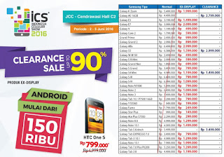 Indonesia Cellular Show (ICS) 2016 Smartphone Android Samsung Harga Mulai Rp 100 Ribuan