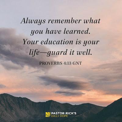Become A Lifelong Learner by Rick Warren