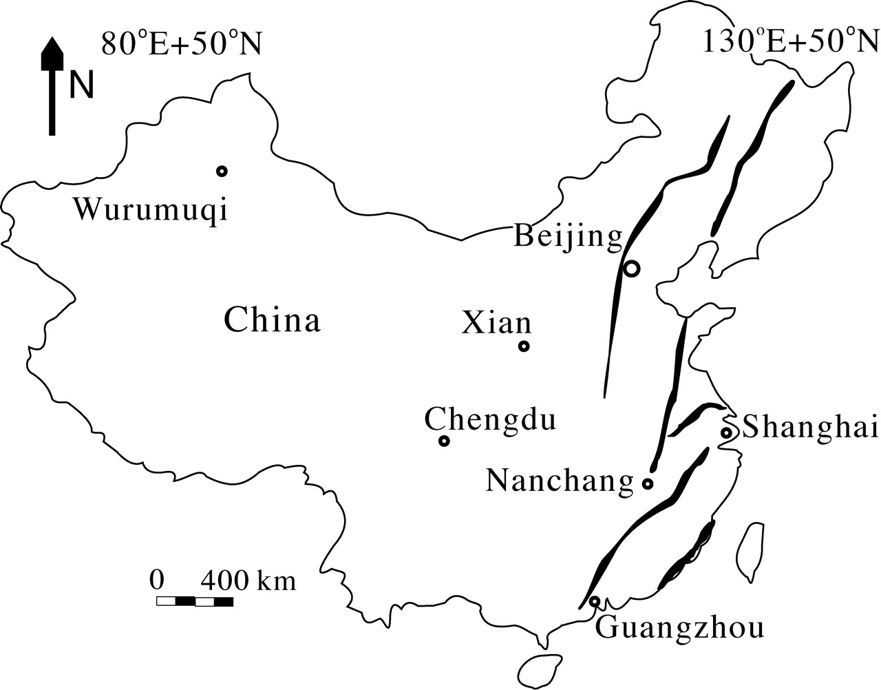 China Map Cities Tourist