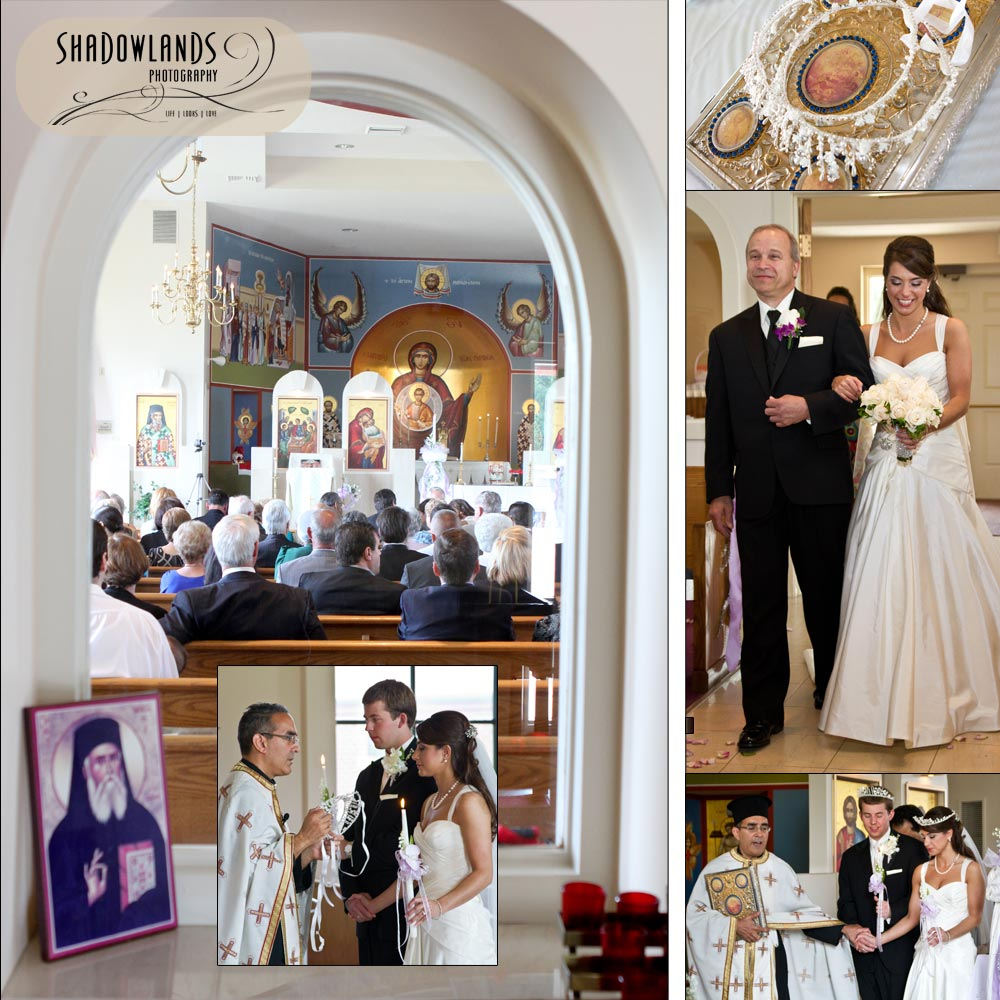 Greek Wedding Altar: Shadowlands Photography: Big Greek Wedding: Krista + Ben