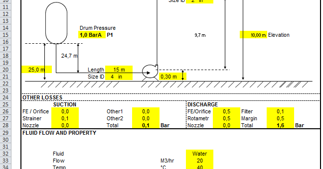 Centrifugal Pump Calculator xls free download