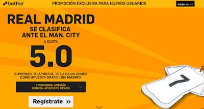 betfair Real Madrid se clasifica Manchester City cuota 5 Champions League 4 mayo