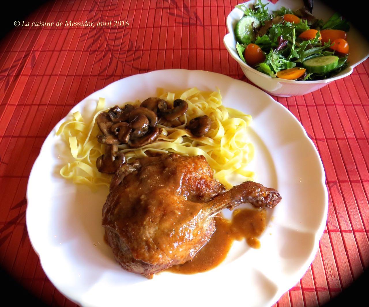 La cuisine de messidor cuisses de canard brais es sauce barbecue - Cuisse de canard en sauce ...