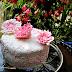 Chelsea Flower Show - Floral Printed, Sugar Paste Dahlia, Orange Cake
