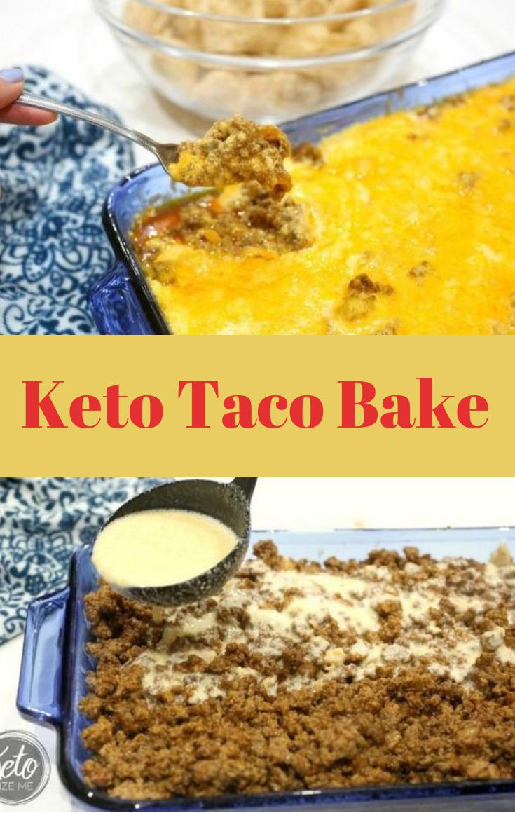 KETO TACO BAKE #keto #diet