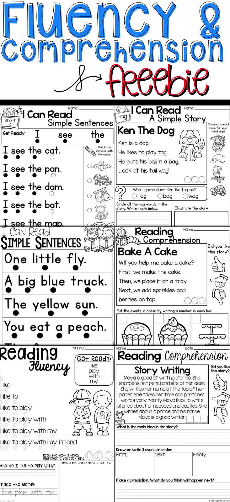Reading Resources {freebie}  All Students Can Shine