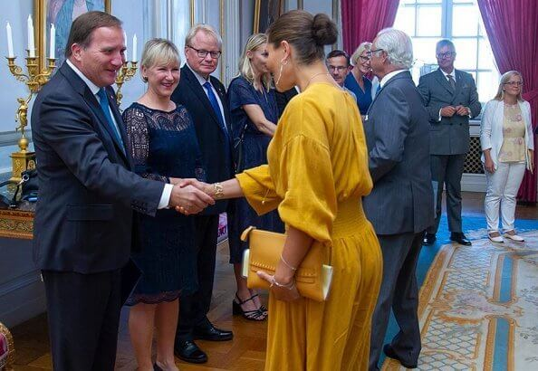 Crown Princess Victoria wore a new midi dress by Rodebjer. Princess Victoria wore Rodebjer roma dress