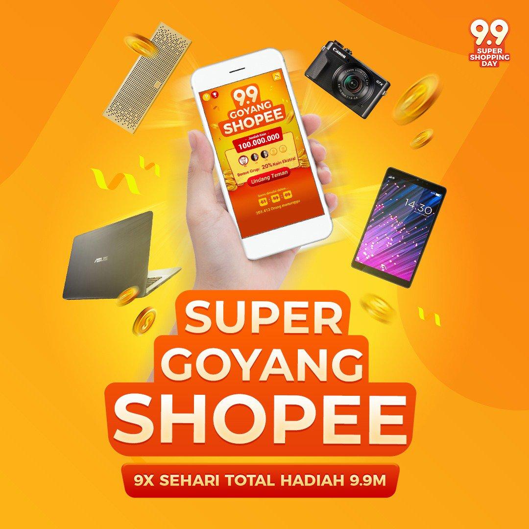 Shope - Promo Super Goyang Shopee 9 x di Tanggal 31 Agustus 2018