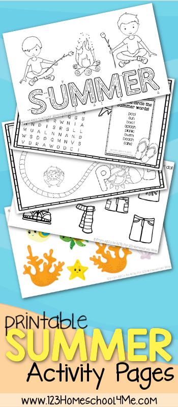 free summer kids activity sheets - Free Activity Pages For Kids