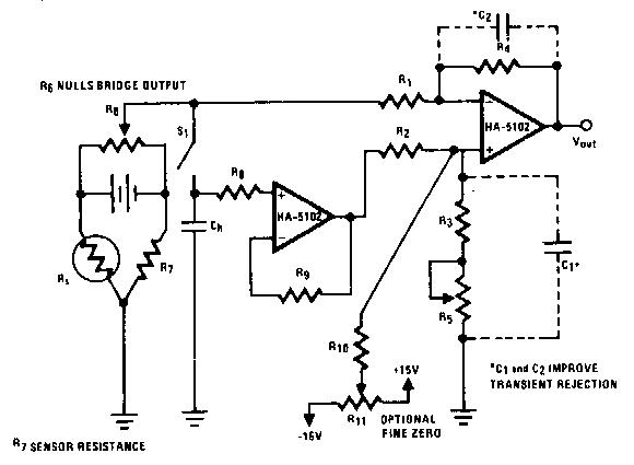 noninverting sample and hold 1 circuit diagram