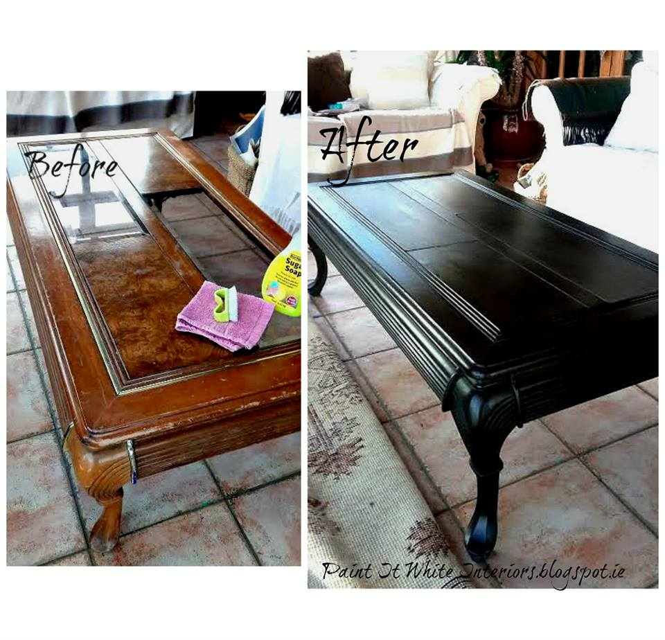 Coffee Table Makeover In Annie Sloan Graphite And Custom