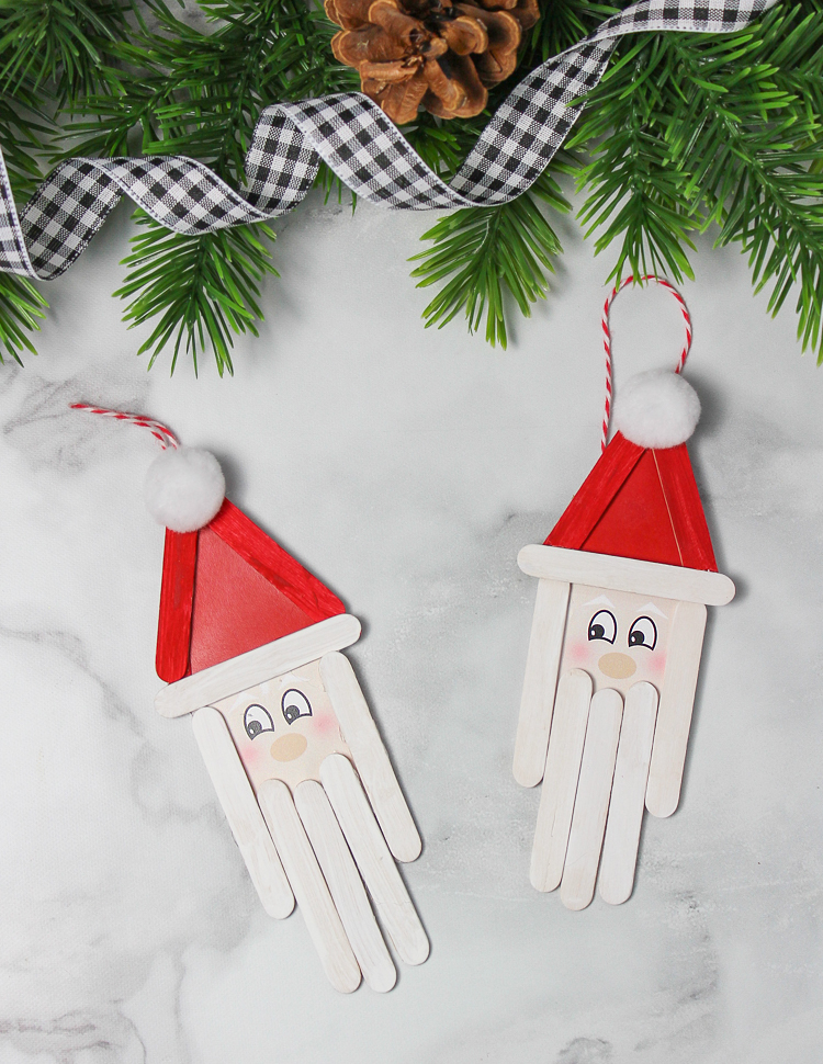 Wooden Santa Handmade Ornament Christmas Craft For Kids