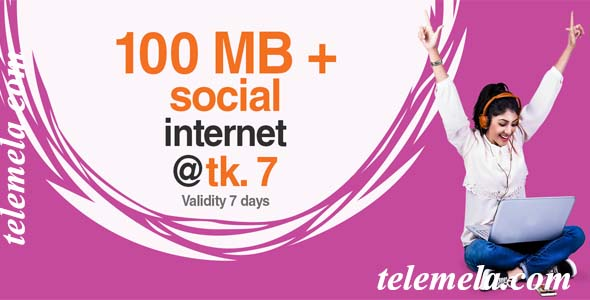 banglalink 100MB internet at 7tk