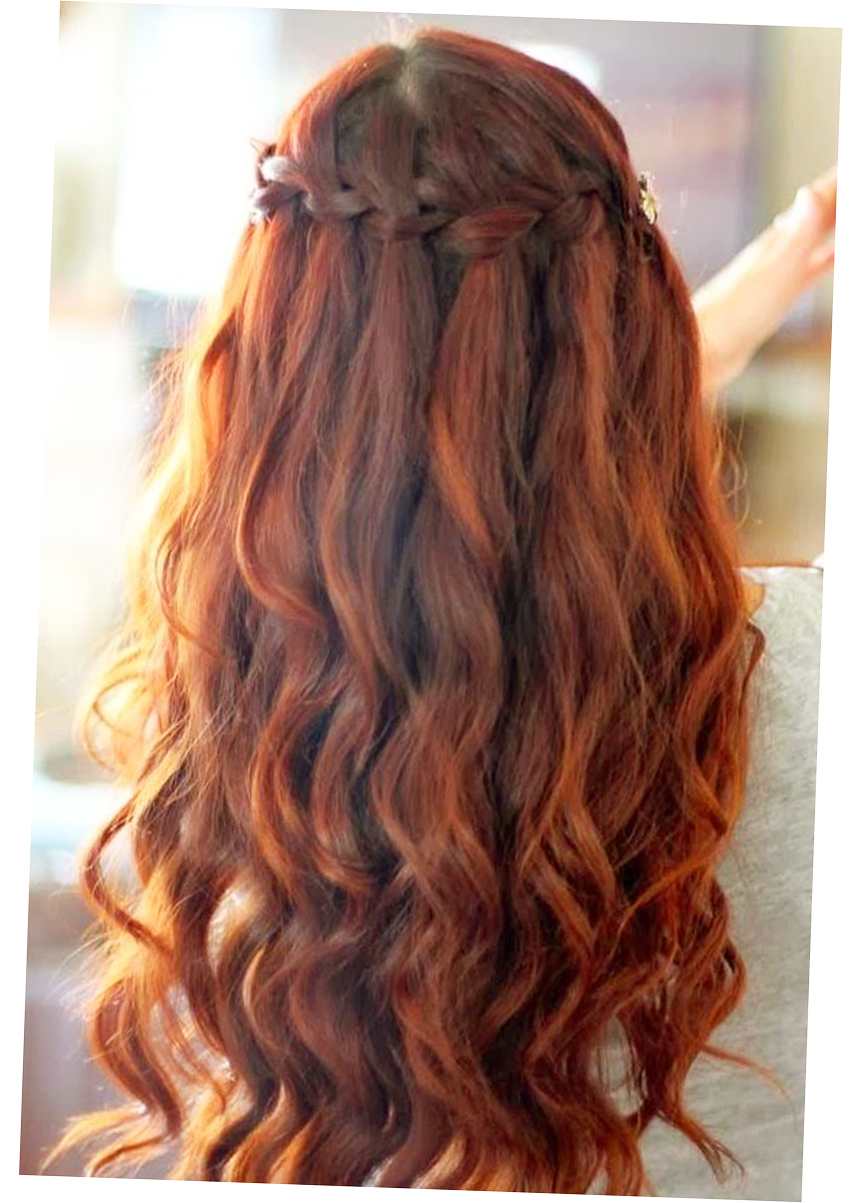 different hair styles for long hair waterfall braided hairstyles for long hair pic