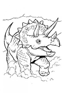 Cute Triceratops Coloring Sheet Online