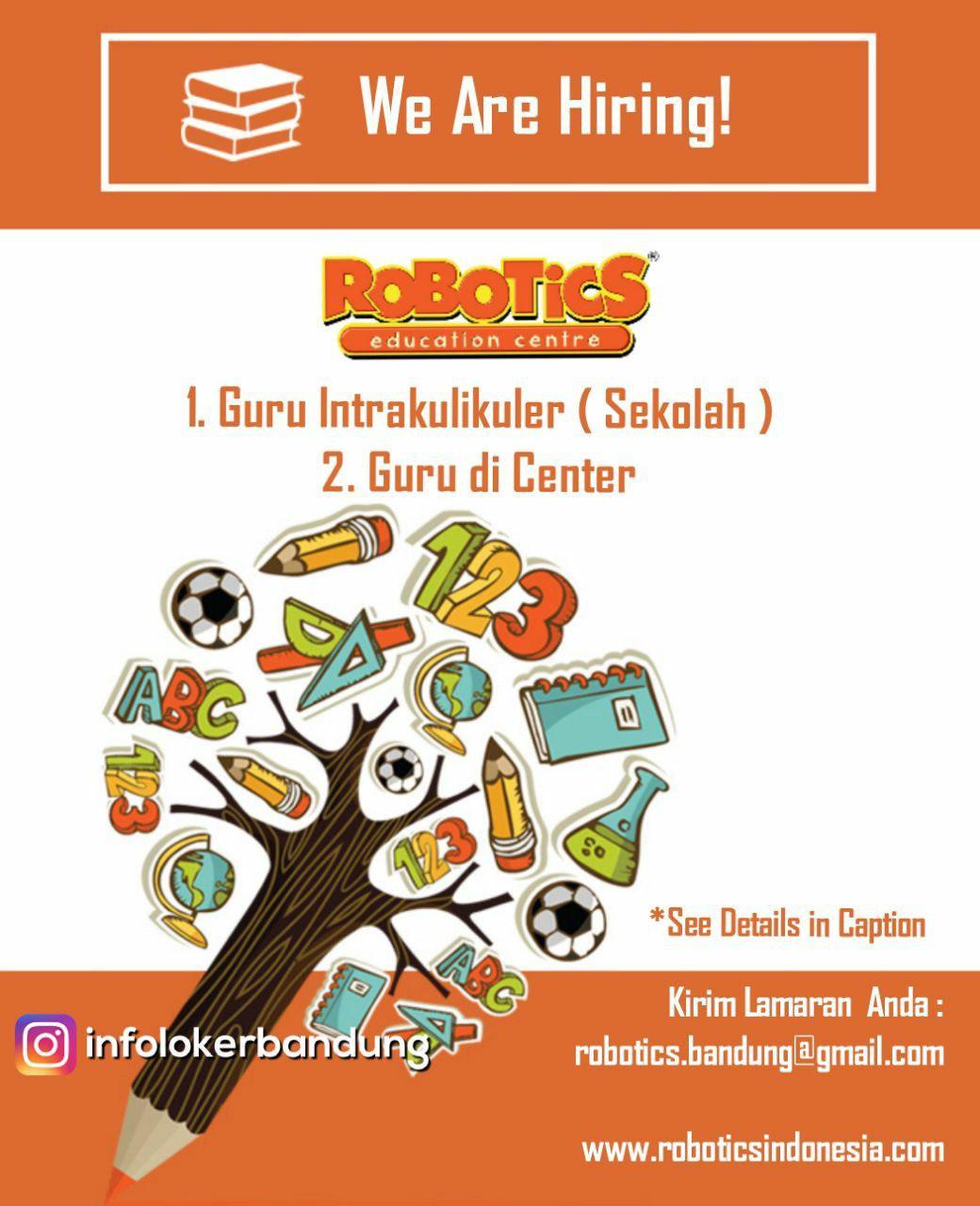 Lowongan Kerja Robotics Education Centre Bandung Mei 2018