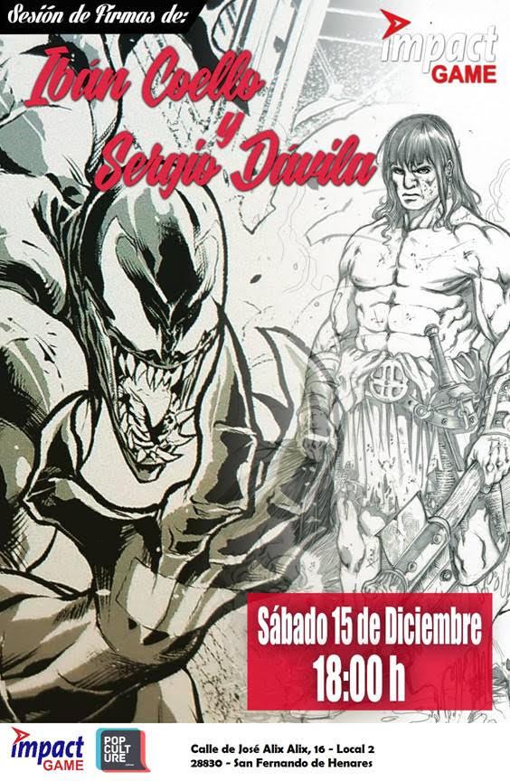 Convocatoria Impact Game: Sergio Dávila e Iban Coello el 15/12/18