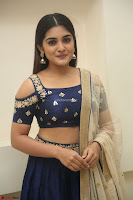 Niveda Thomas in Lovely Blue Cold Shoulder Ghagra Choli Transparent Chunni ~  Exclusive Celebrities Galleries 032.JPG