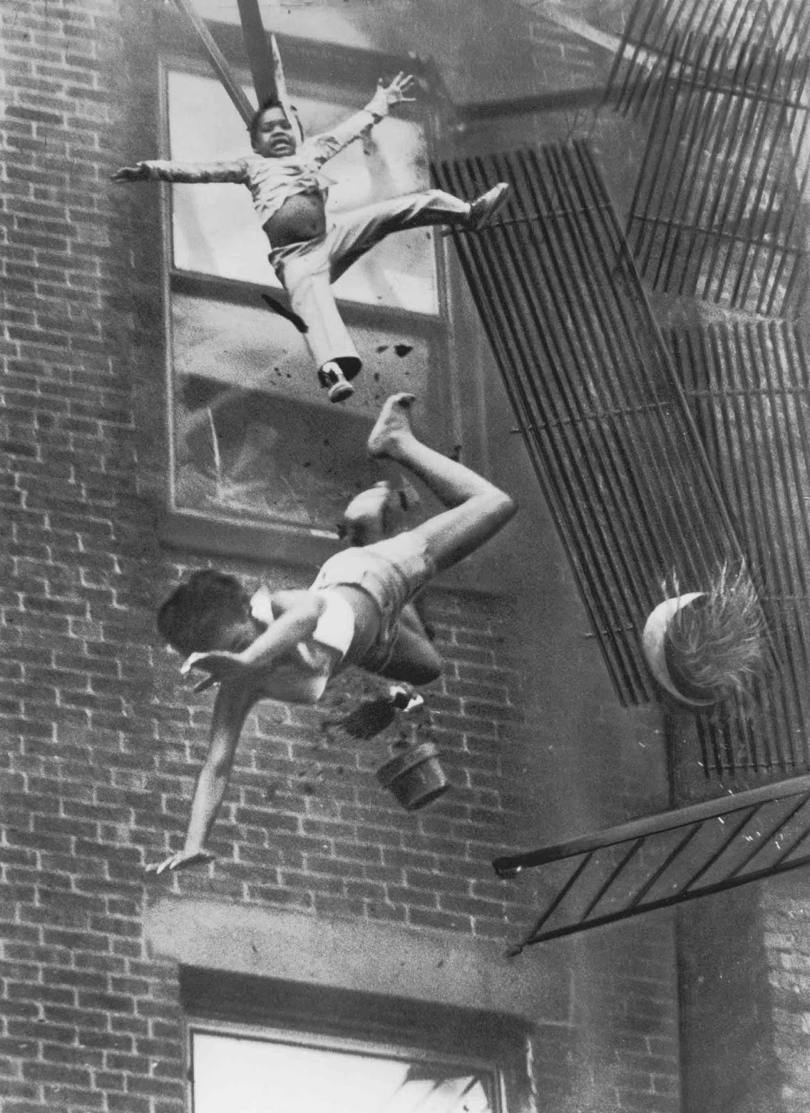 Fire Escape Collapse, also known as Fire on Marlborough Street, is a black-and-white photograph by Stanley Forman which received the Pulitzer Prize for Spot News Photography in 1976.