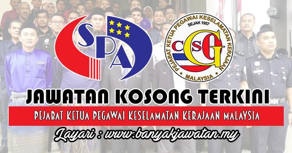 Jawatan Kosong Kerajaan 2018 di Pejabat Ketua Pegawai Keselamatan Kerajaan Malaysia (CGSO)