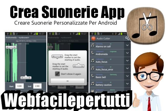 Crea Suonerie | Applicazione Per Creare Suonerie Personalizzate Per Android