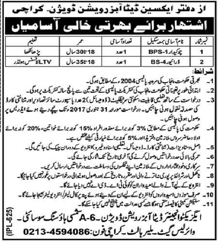XEN Data Observation Division Karachi jobs