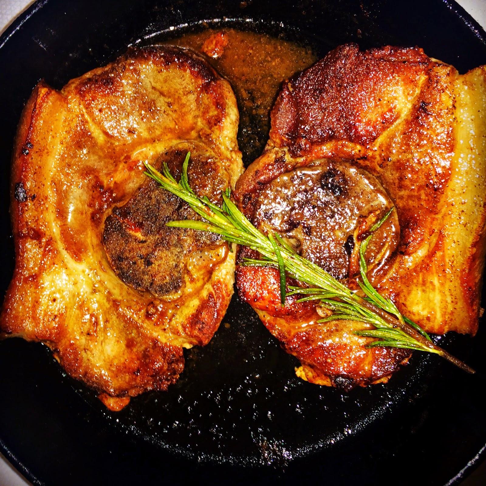 eating fabulously, christopher stewart, seared pork picnic steaks