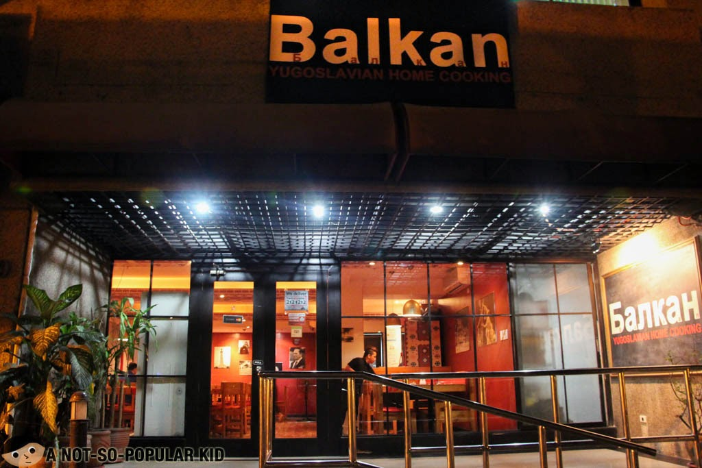 The Balkan Yugoslavian Home Cooking Makati Branch in Perea Street