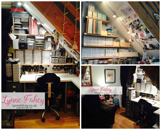 Lynne Fahey's Stampin' Up! Crafting space...