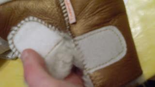 chaussons avec scratchs