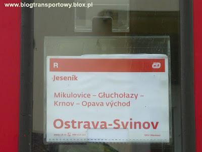 Ciekawy przykład informacji pasażerskiej - kartka umieszczona w szybie drzwi