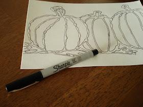 A Faithful Attempt Glue Line Watercolour Pumpkins
