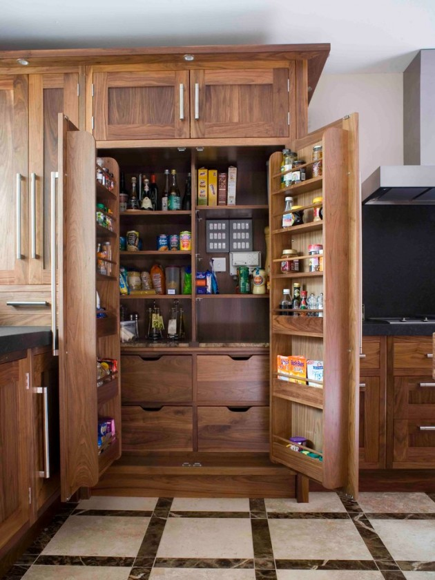 Spectacular Beautiful double wood doors with built in shelves open to an all wood cabinet with storage shelves and drawers Gorgeous lots of storage space organized
