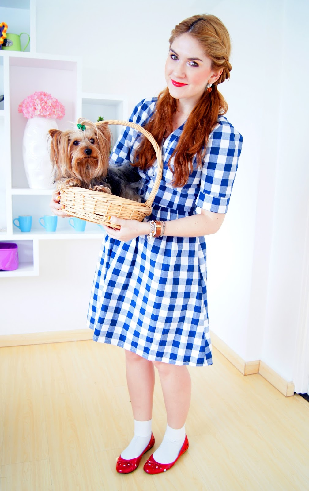 Last Minute Dorothy from the Wizard of Oz Halloween costume. Click through for tutorial