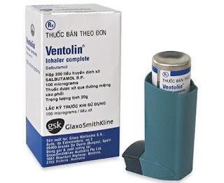 Thuốc xịt Ventolin inhaler 100 mcg