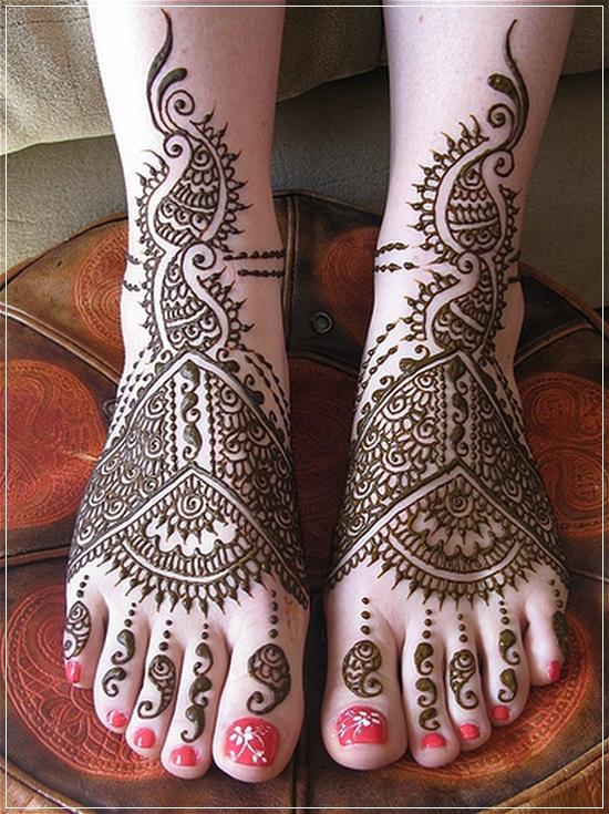 Mehandi Designs for Feet