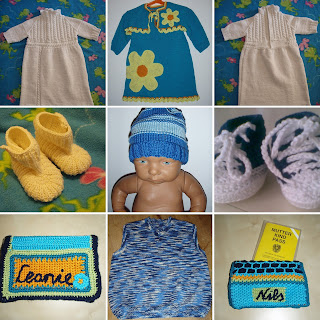 TinklkniT stricken häkeln Babies Taufkleid Kleid Schuhe Mutter-Kind-Pass