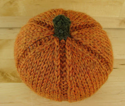 decorative, ornamental, pumpkin, knitted, orange