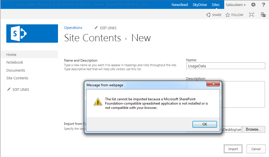 SharePoint 2013 Import Spreadsheet Errors and Solutions - SharePoint ...