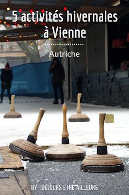Cinq activités à faire à Vienne en hiver, quand il neige, entre patin à glace, Eisstock et balade sur le Danube gelé! #Vienna #Wien #winter