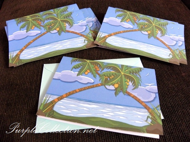 party cards, invitation cards, birthday cards, beach party cards, pulau redang party cards