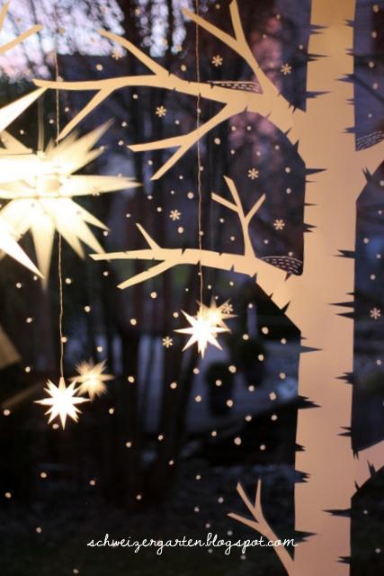 diy last minute adventsfenster ein schweizer garten bloglovin. Black Bedroom Furniture Sets. Home Design Ideas