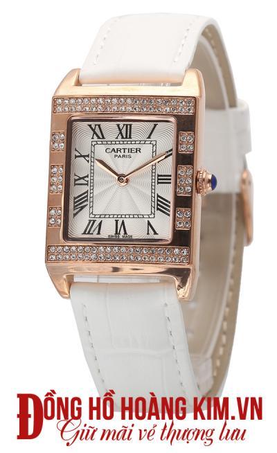 đồng hồ nữ dây da trắng