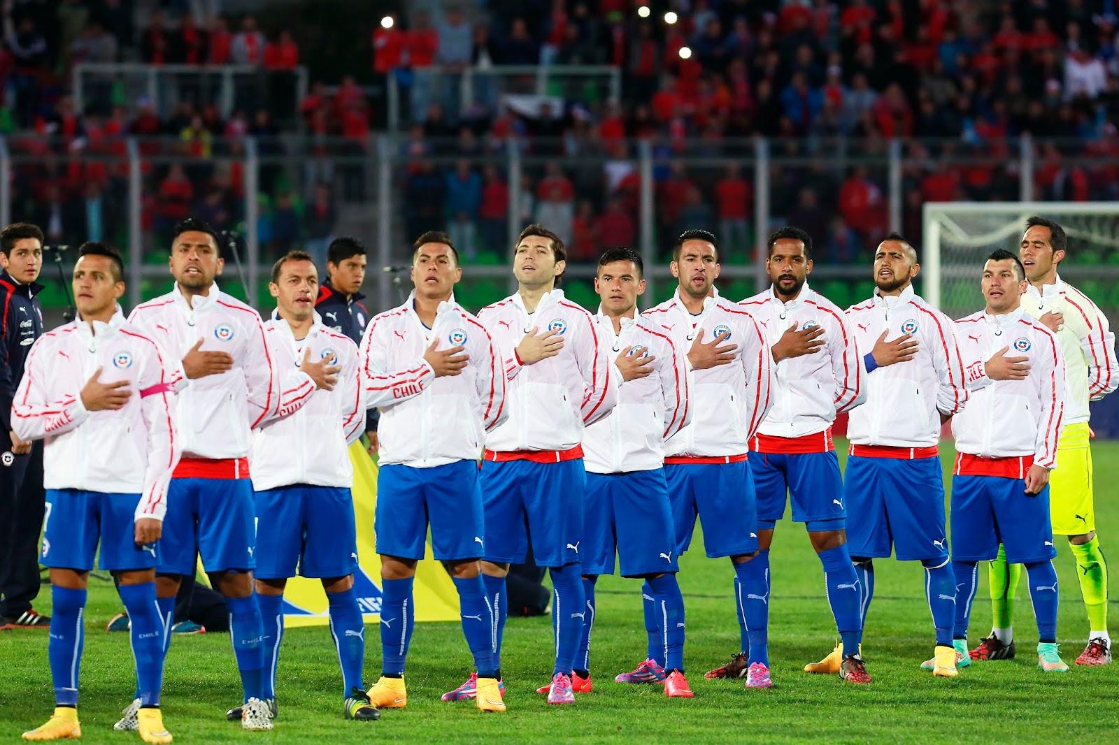 Formación de Chile ante Perú, amistoso disputado el 10 de octubre de 2014