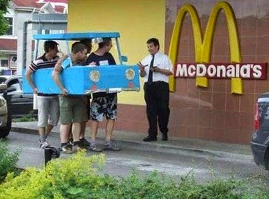Funny McDonalds Drive-Thru Joke Picture