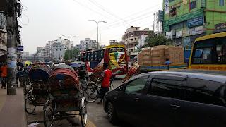 Wari traffic on a slow day