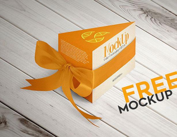 Gratis Mockup Packaging/Kemasan PSD 2018 - Cake Packaging Gift Box Mockup PSD