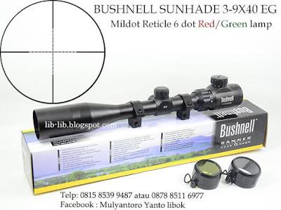 bushnell 3-9x40eg extended sambungan depan