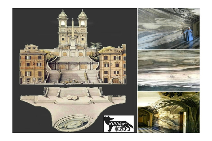 Illusioni prospettiche e sfondati prospettici nel Convento di Trinità dei Monti